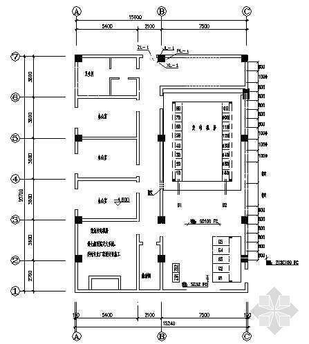 某二层结构泵站房屋设计图