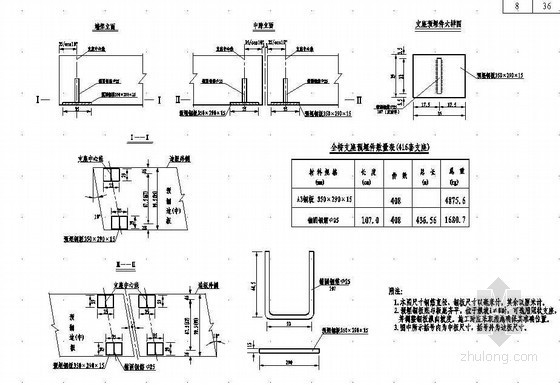 16米先张法预应力混凝土空心板支座预埋钢板构造节点设计详图
