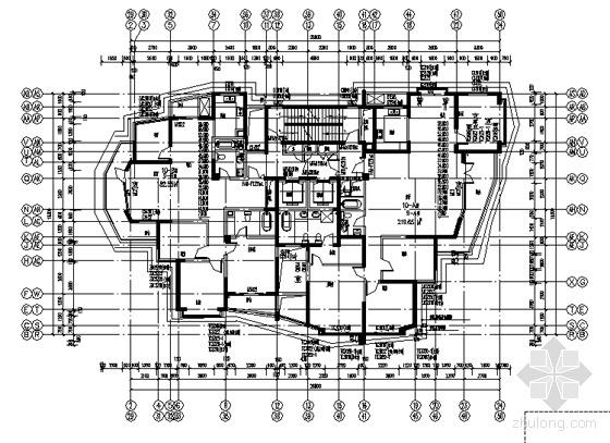 9、10号楼3~13层平面图