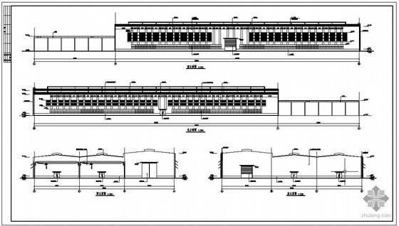 某3连高低跨厂房建筑结构图