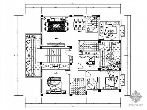 [成都]小区三户型四居室雅居设计方案Ⅰ(含效果)