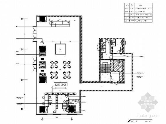[江苏]高档现代购物广场售楼处室内装修施工图(含效果图)