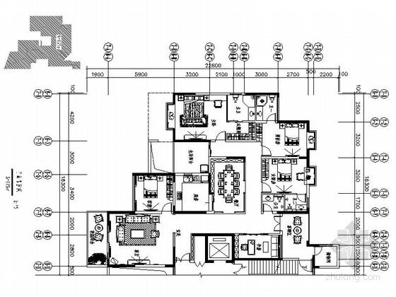 [深圳]195平经典豪华欧式五居室样板间装修设计施工图