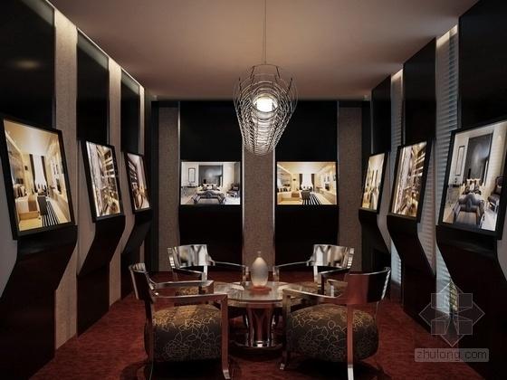 [锡安]知名设计单位高级专业现代月子会所装修施工图(含效果)选房洽谈室效果图