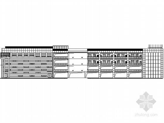 [成都]某四层教学楼隐框玻璃幕墙建筑施工图