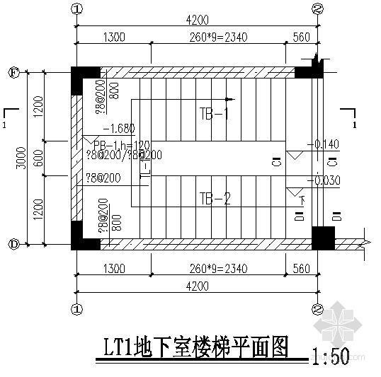 别墅楼梯节点构造详图