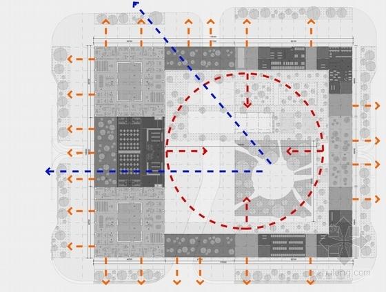 玻璃幕墙超高城市综合体分析图