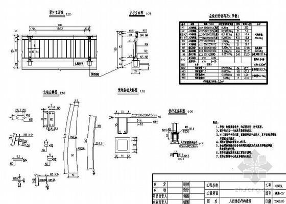 13m空心板简支梁人行道栏杆构造节点详图设计
