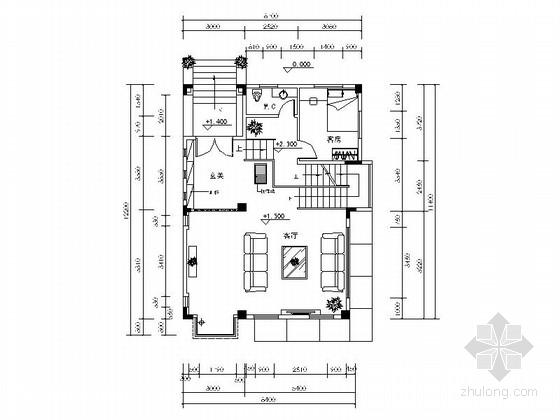 [广东]纯别墅小区高档现代三层别墅装修施工图