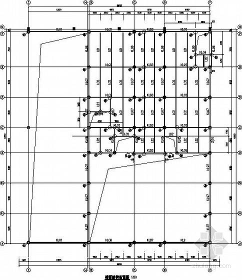 两连跨钢框架4S店汽车展厅结构施工图