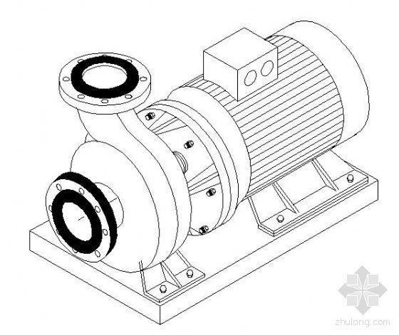水泵轴测标准大样图