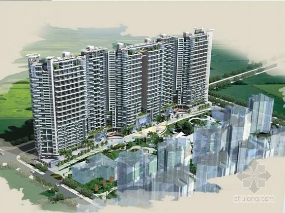 [深圳]某31层商住楼建筑设计方案文本