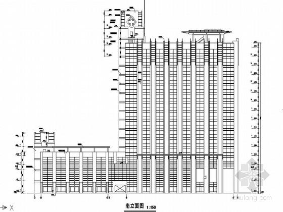 江苏某军医院病房大楼建筑结构图
