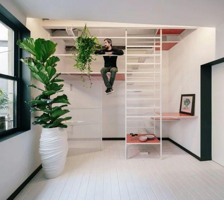 46㎡ 改造 LOFT ,楼梯设计真有创意