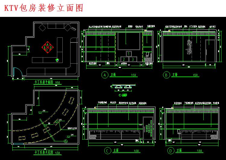300多套CAD装修施工图纸(家装,工装,节点等)_10