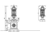 cad灯柱详图