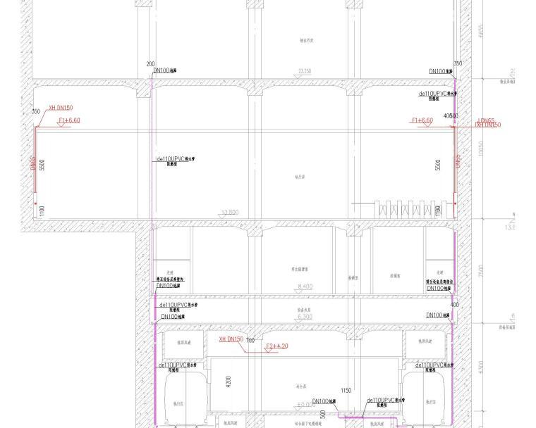 某地铁站给排水施工图(含6张详细设计说明)