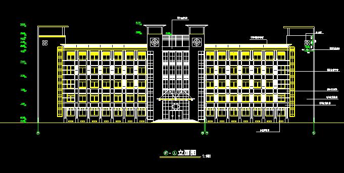 某中学综合实验楼建筑施工图