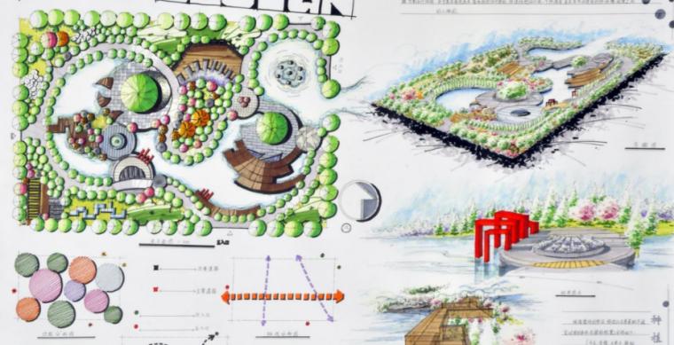 40套高分景观快题手绘设计方案_8