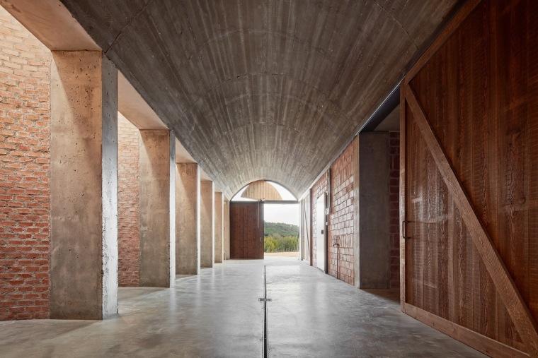 西班牙双曲线拱门形式Mont-Ras酒庄内部实景图 (1)