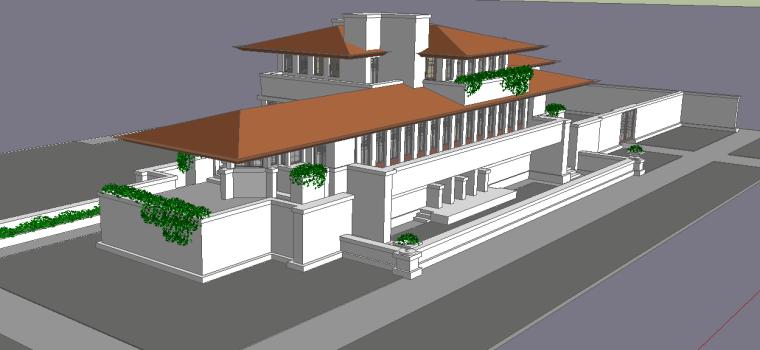 建筑大师赖特的20个sketchup模型