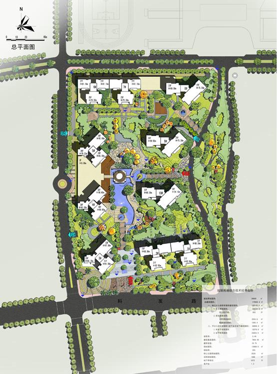 深圳某商品房小区规划概念方案设计(含户型及会所平面图)-总平面