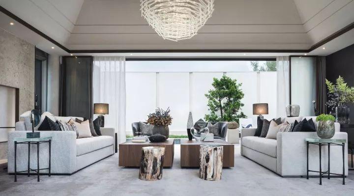 25个新中式豪宅客厅设计