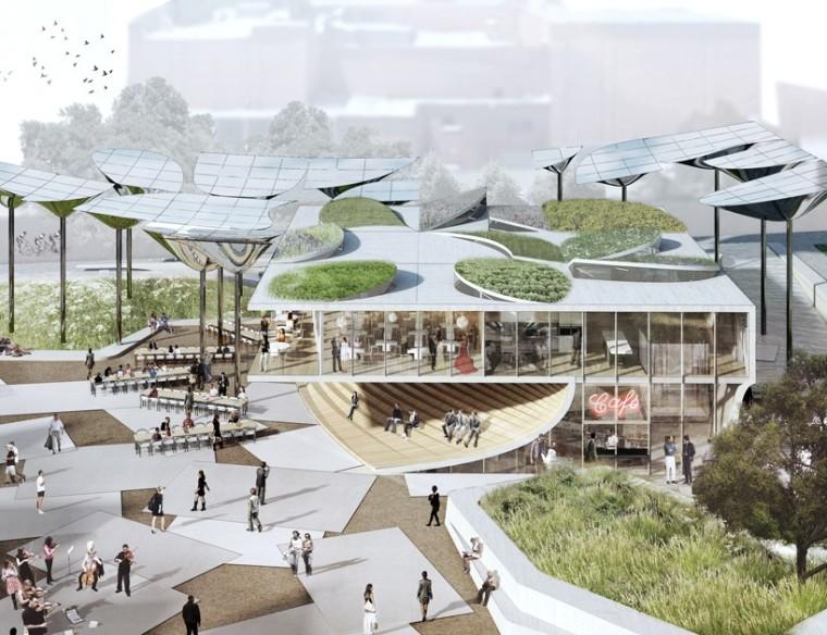"""洛杉矶市中心""""FAB""""新型公园的方案_4"""