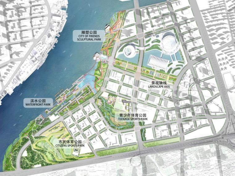 [广东]滨水公园-前城浦南之心公园景观方案文本(PDF+92页)