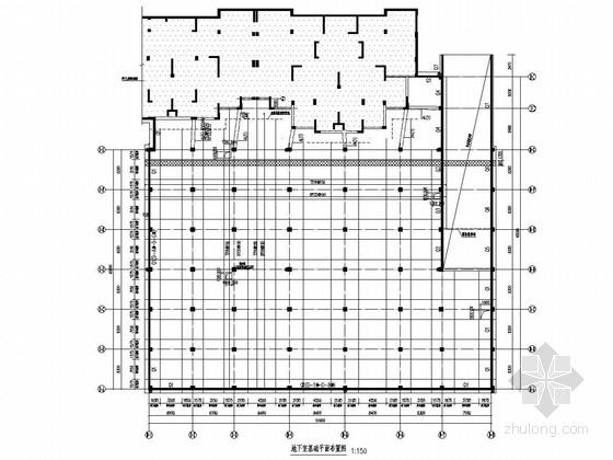 板柱结构地下一层车库结构图(筏板基础)