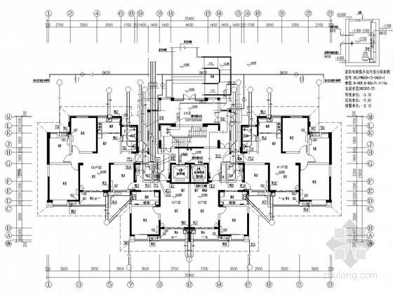 [安徽]三十层住宅建筑给排水平面图