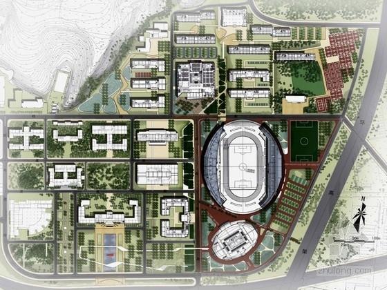 """[沈阳]""""屏山生境""""的生态空间模式校园景观规划设计方案"""