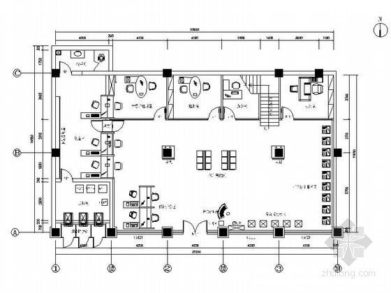 [原创]现代金融商业金融机构装修施工图