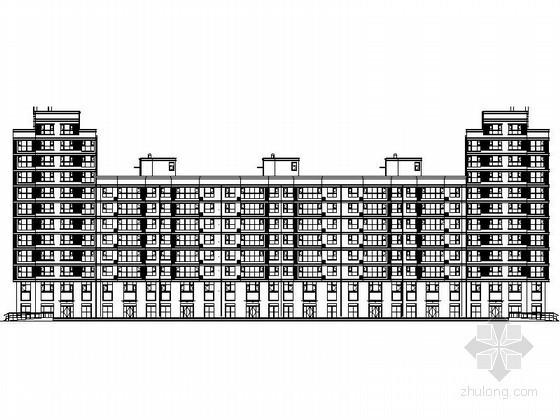 U楼梯资料下载-[唐山]某U型十一层商住楼建筑施工图