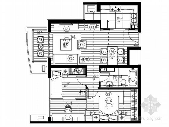 [北京]花园小区现代高档三居室装修图