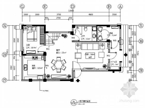 [昆山]顶级住宅现代两层别墅样板房装修图