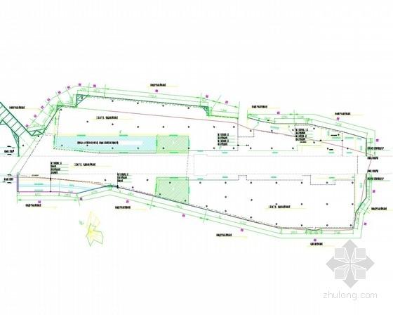 [福建]14米深基坑灌注桩加预应力锚索支护施工图