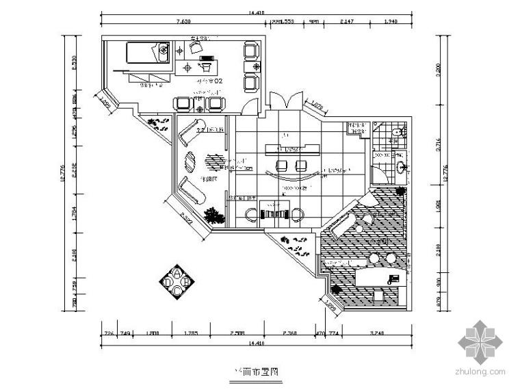 [南京]某装饰公司办公空间装修图