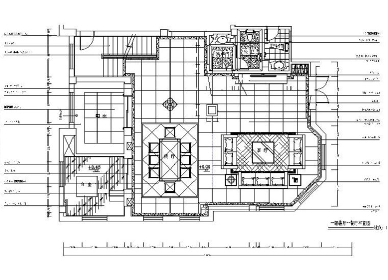 [南京]大型房地产名下欧式别墅室内设计CAD施工图