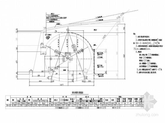 [广西]双线电化铁路5400m长隧道设计图纸80张(含斜井 知名大院)