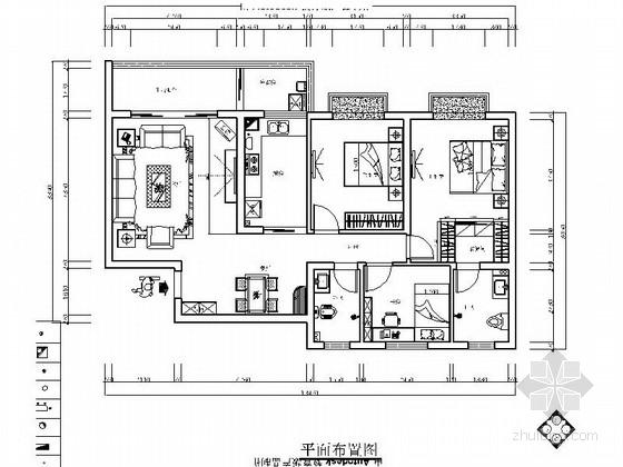[贵阳]中式三居室室内装修图