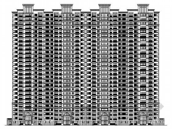 [内蒙古]现代风格27层住宅建筑设计施工图(知名设计院 画图精细)
