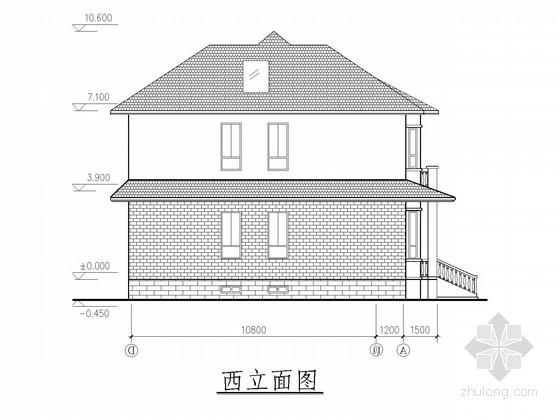 二层砖混别墅结构施工图(含建施)
