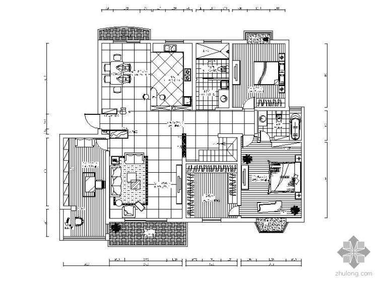 某复式室内装修施工图