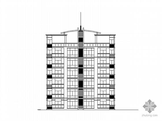 某六层顶层复式住宅楼建筑扩初图