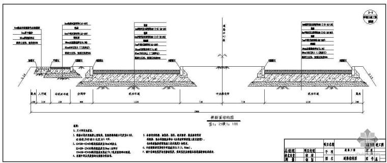 安徽省某新区市政工程竣工图