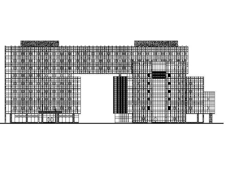 [浙江]高层框架结构县级现代风格机关办公楼建筑施工图