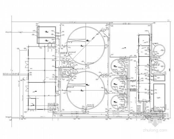 [辽宁]工业园区污水处理厂给排水图纸(工艺图、详图、安装图)