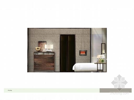[广州]市中心核心地带五星级商务酒店客房方案设计 立面图