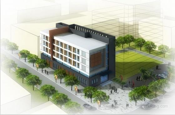 [云南]几何形体造型综合性中医院建筑设计方案文本(含三套方案及CAD)